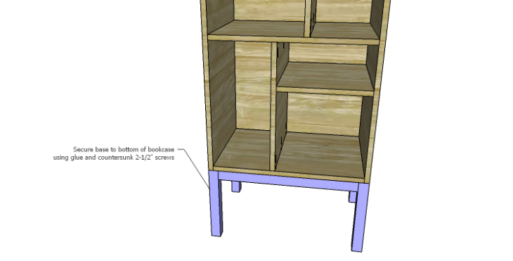 DIY Plans to Build a Daisy Bookcase_Base 2