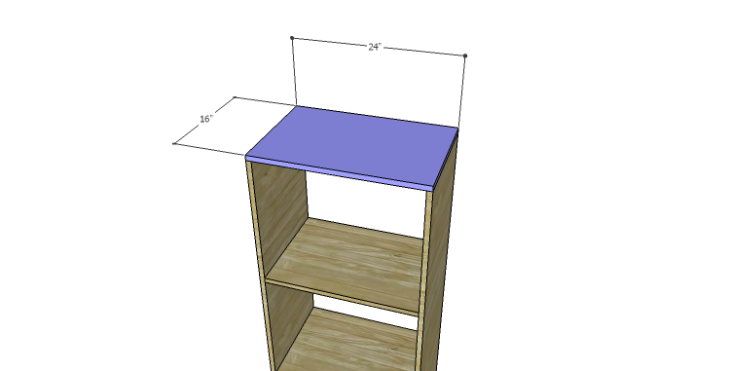 DIY Plans to Build a Daisy Bookcase_Top
