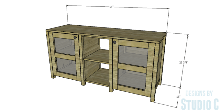 DIY Plans to Build a Connor Media Console