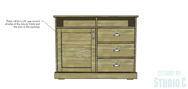 DIY Plans to Build a Brenley Media Console_Door & Drawers