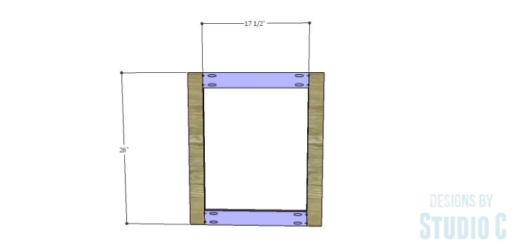DIY Plans to Build a Brenley Media Console_Door Frame