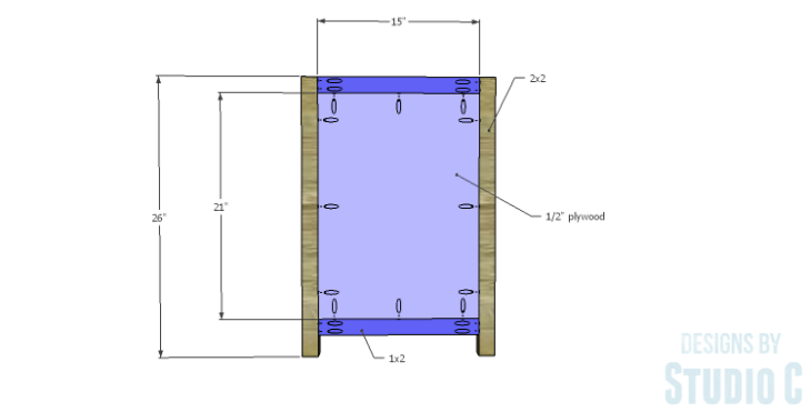 DIY Plans to Build a Connor Media Console_Sides