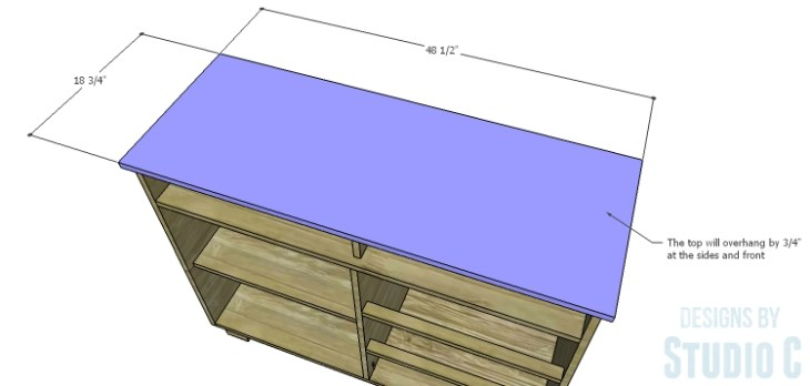 DIY Plans to Build a Brenley Media Console_Top