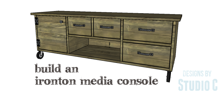 Another Rustic and Industrial Media Stand with Lots of Storage ...