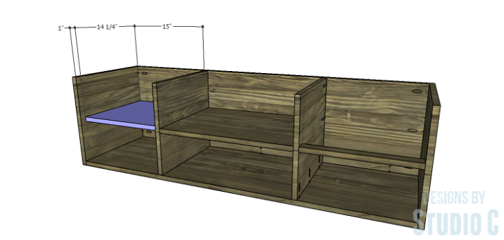 DIY Plans to Build an Ironton Media Console_Cubby Shelf
