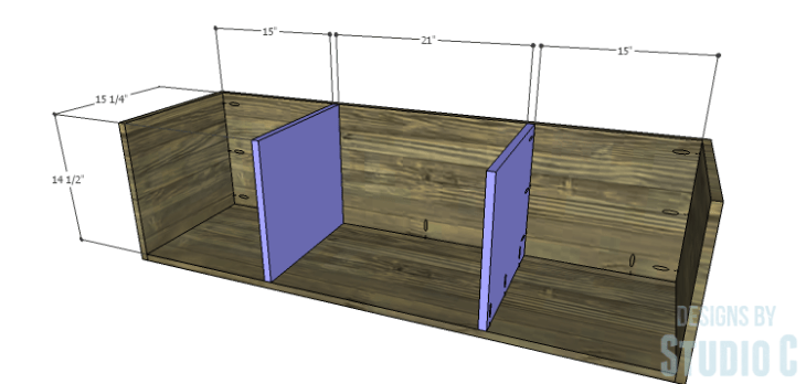 DIY Plans to Build an Ironton Media Console_Larger Dividers