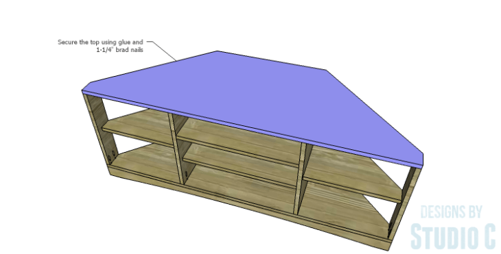 DIY Plans to Build a Rushton Media Stand_Top