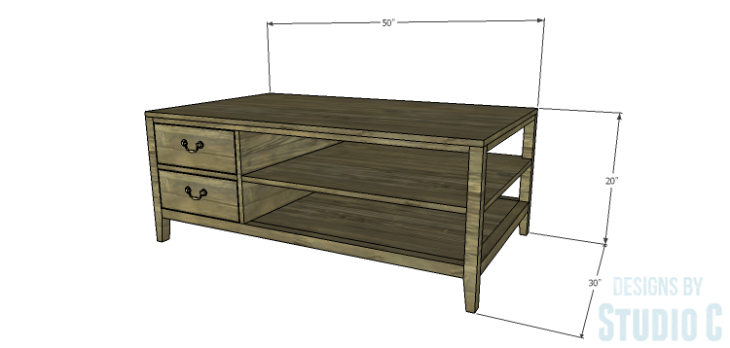 DIY Plans to Build a Drew Cocktail Table