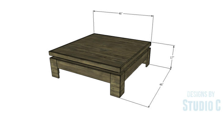DIY Plans to Build a Mercer Coffee Table
