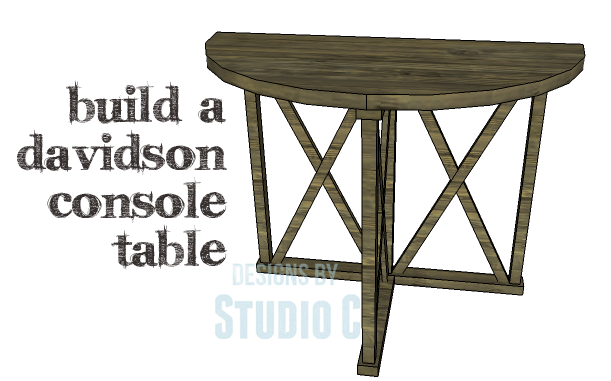 DIY Plans to Build a Davidson Console Table_Copy