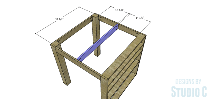 DIY Plans to Build a Storage Counter Height Table_Top Support