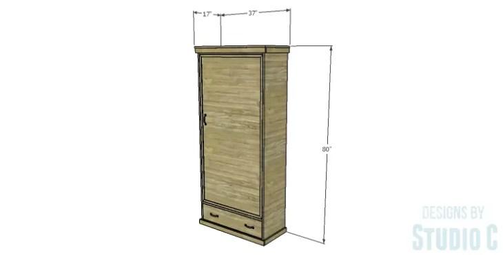 DIY Plans to Build a Single Door Armoire