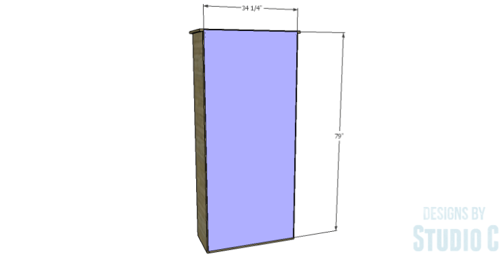 DIY Plans to Build a Single Door Armoire_Back