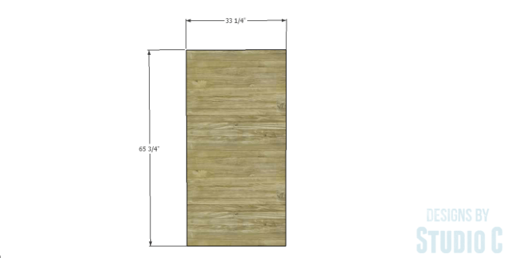 DIY Plans to Build a Single Door Armoire_Door 1