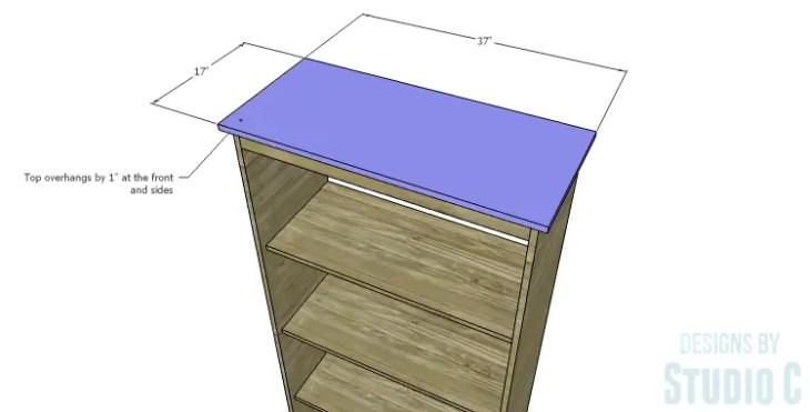 DIY Plans to Build a Single Door Armoire_Top