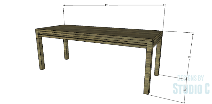 DIY Plans to Build a Holly Dining Bench