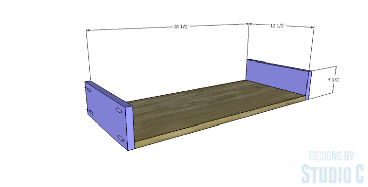 DIY Plans to Build a Bombay Bookcase_Drawer BS