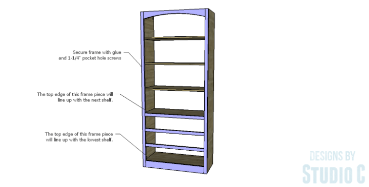 DIY Plans to Build a Bombay Bookcase_Front Frame 2