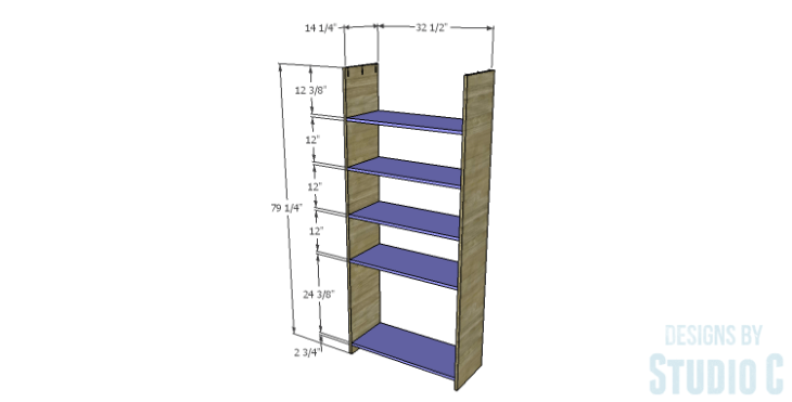 DIY Plans to Build a Bombay Bookcase_Sides & Shelves