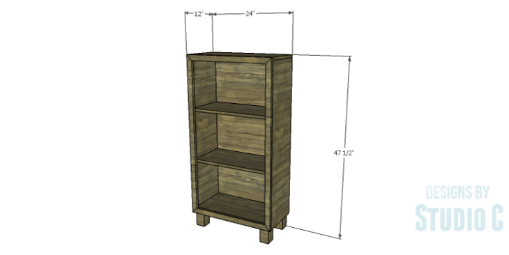 DIY Plans to Build a Kase Bookshelf