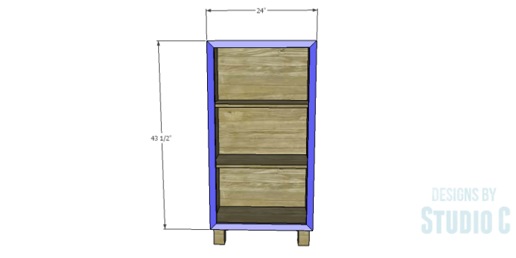 DIY Plans to Build a Kase Bookshelf_Front Frame