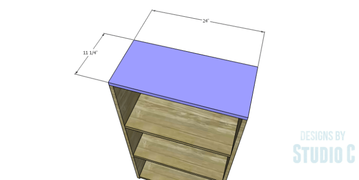 DIY Plans to Build a Kase Bookshelf_Top