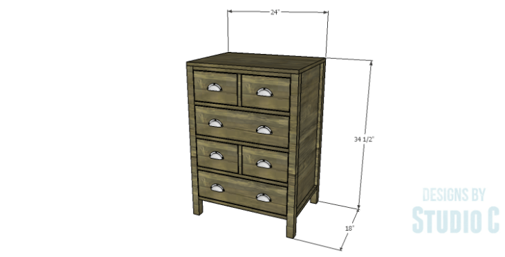 DIY Plans to Build a Matteo Drawer Cabinet