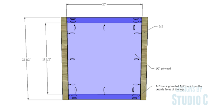 DIY Plans to Build a Lila End Table_Sides 1