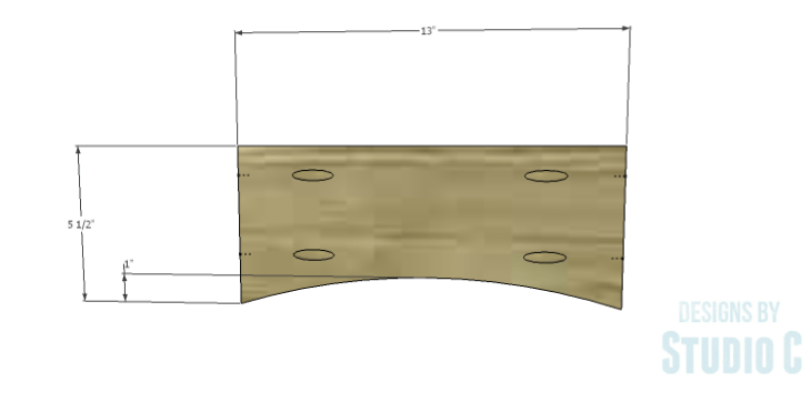 DIY Plans to Build a Taboreh Bench_Side Stretchers 1
