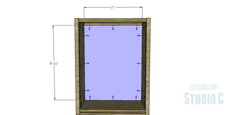 DIY Plans to Build a Holly Bookcase_Back