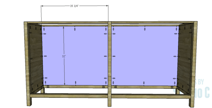 DIY Plans to Build a Frances Buffet_Back Panel