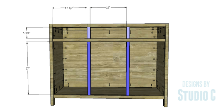 DIY Plans to Build a Doyle Cabinet_Divider Framing
