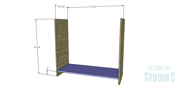 DIY Plans to Build a Savoy Cabinet_Sides & Bottom