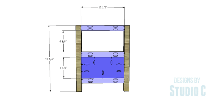 DIY Plans to Build a Delvigne Media Cabinet_Sides