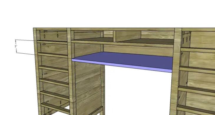 DIY Plans to Build a Jeweler's Desk_Center Drawer Lower Shelf 2
