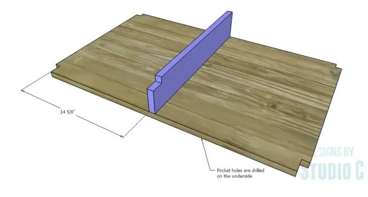 DIY Plans to Build a Jeweler's Desk_Center Drawer Upper Shelf 2