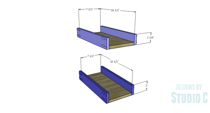 DIY Plans to Build a Jeweler's Desk_Narrow Drawers BS