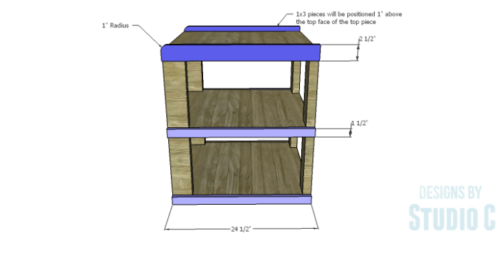 DIY Plans to Build a Wilton Rustic End Table_Side Trim