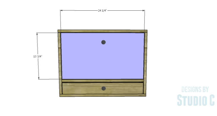 DIY Plans to Build a Laptop Wall Desk_Drop Down Shelf