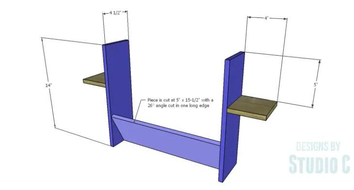 DIY Plans to Build a Laptop Wall Desk_Shelf Assembly 1