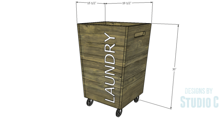 DIY Plans to Build a Rustic Laundry Cart