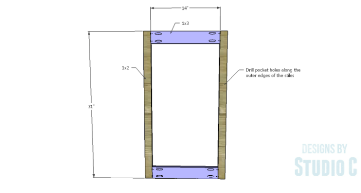 DIY Plans to Build a Diagonal Corner Base Kitchen Cabinet_Face Frame 1