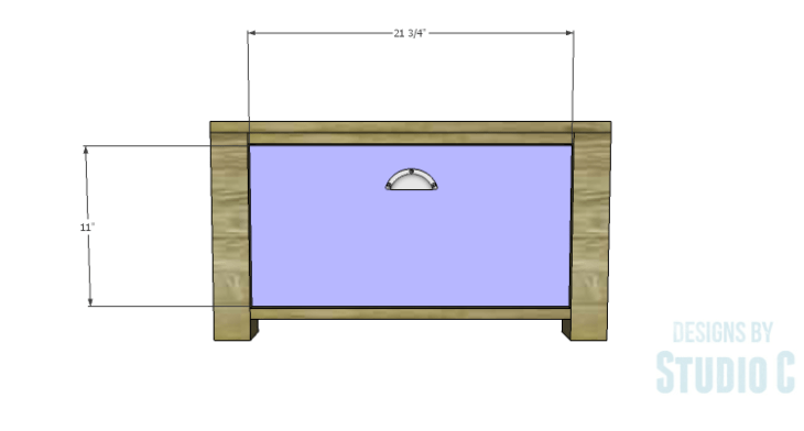 DIY Plans to Build Single Washer and Dryer Pedestals_Drawer Front