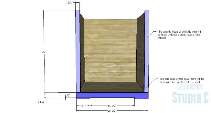 DIY Plans to Build a Trunk Style Bath Vanity_Face Frame