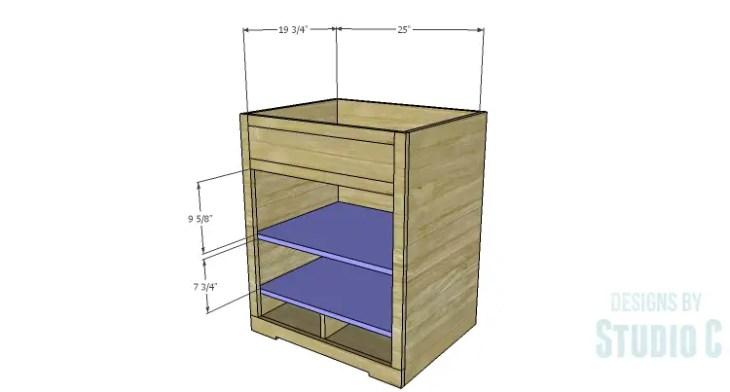 DIY Plans to Build a Trunk Style Bath Vanity_Shelves