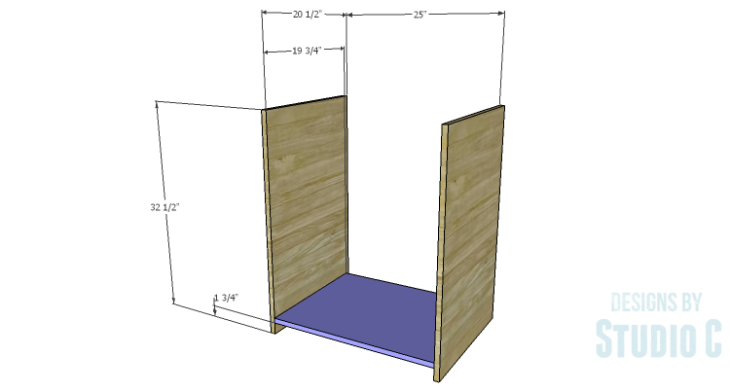 DIY Plans to Build a Trunk Style Bath Vanity_Sides & Bottom