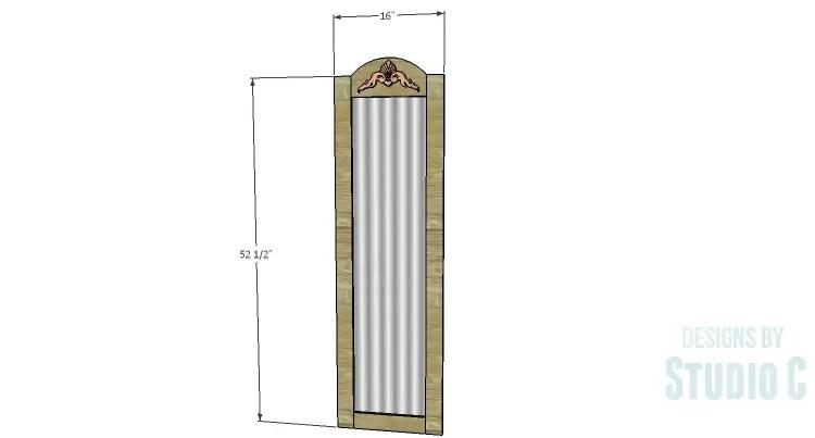 DIY Plans to Build a Dorm Mirror Frame |