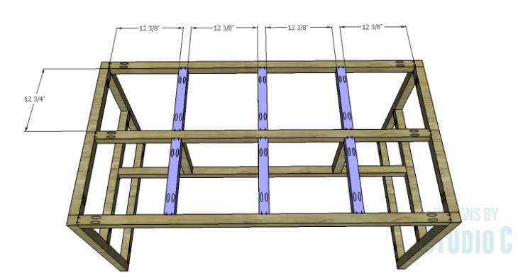 DIY Plans to Build a Griffith Dining Table_Top Support Framing