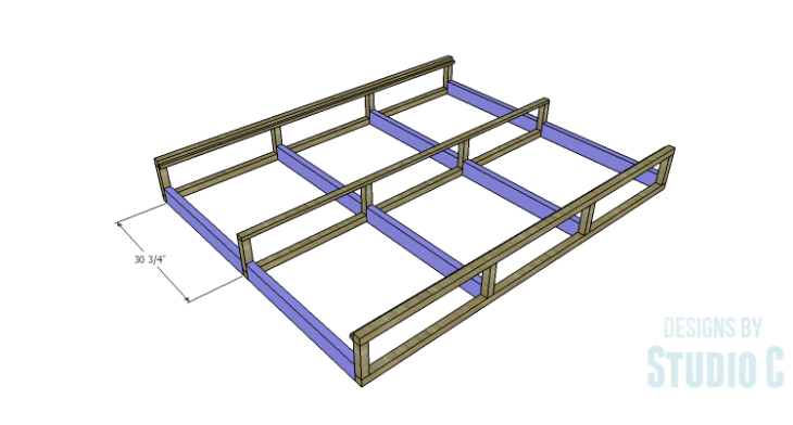DIY Plans to Build a Rustic Metal Strap Queen Bed_Drawer Slide Spacers
