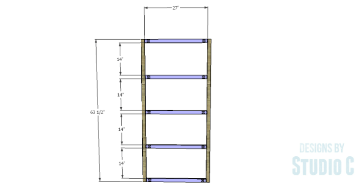DIY Plans to Build a Parson Bookcase_Frame 1